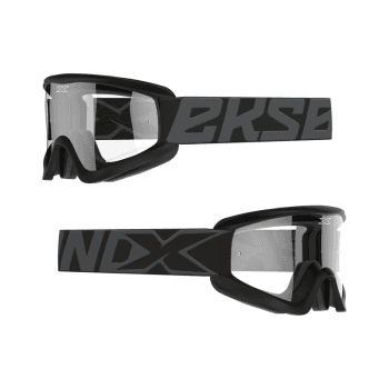 EKS Adults GOX Flat Out Goggles With Iridium Lens - Stealth Black/Silver