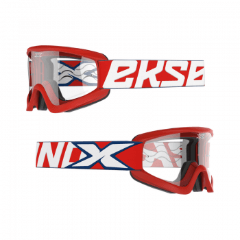 EKS Adults GOX Flat Out Goggles With Iridium Lens - Patriot Red/White/Blue