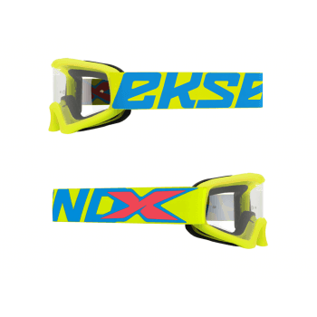 EKS X-Grom Youth Goggles - Flo Yellow / Ice Blue