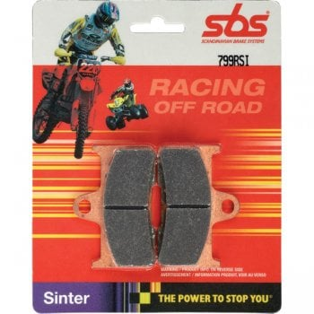 SBS 604RSI Racing Sintered Brake Pads - Rear - Honda CR80 1992-02, CR85 2003-07, CR125/250 1995-01