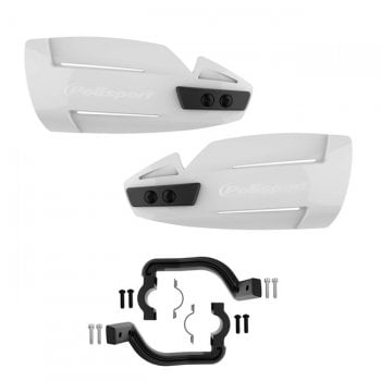 Polisport Hammer Hand Guard White With Mounting Kit