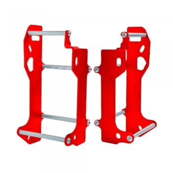 Crosspro Aluminium Radiator Braces - Honda CRF450R 13-14 - Red