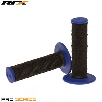 RaceFX Pro Series 20100 Dual Compound Grips - Black/ Blue