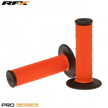 RaceFX Pro Series 20200 Dual Compound Grips - Orange/ Black