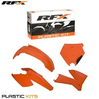 RaceFX Plastics Kit - KTM SX/SXF 125-525 2005-06, EXC/F 125-525 2005-07 (4 Pc) - Orange