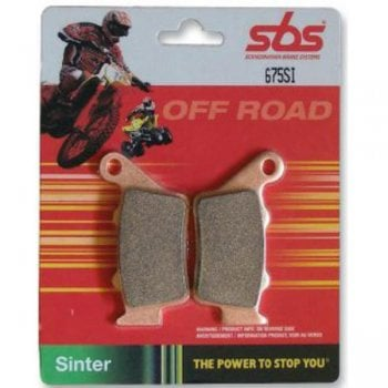 SBS 604RSI Racing Sintered Brake Pads - Rear - Kawasaki KX125/250 1995-07, KX500 1996-98