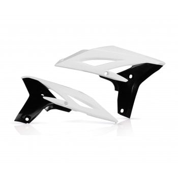 Acerbis Radiator Scoops To Fit Yamaha YZF250 2010-13, WRF250 2012-14 - White/ Black