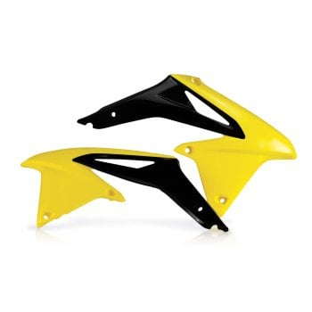 Acerbis Radiator Rad Scoops - Suzuki RMZ450 2008-17, RMZ-X 2010 - Yellow/ Black