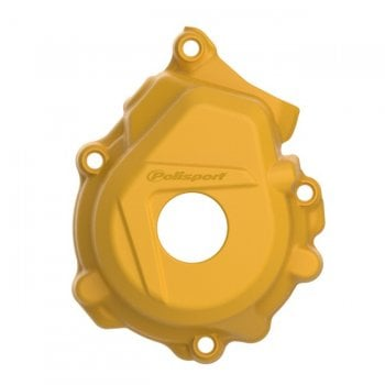 Polisport Ignition Cover Protector - KTM SXF250-350 & Husqvarna FC250-350 2016-19 - Yellow