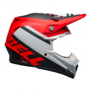 Bell 2020 Adults Moto-9 MIPS Helmet - Prophecy Matte - White/Red/Black