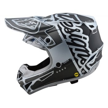 Troy Lee 2020 Adults Polyacrylite SE4 Factory Helmet - Silver