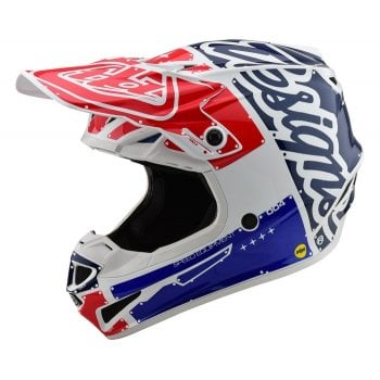 Troy Lee 2020 Youth Polyacrylite SE4 Factory Helmet - Red/ Blue