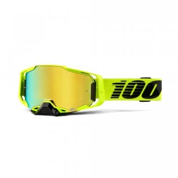 100% Adults Armega Goggles - Nuclear Citrus With Mirror Lens
