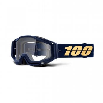 100% Adults Racecraft Goggles - Bakken With Clear Lens