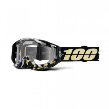 100% Adults Racecraft Goggles - Ergoflash With Clear Lens