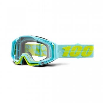 100% Adults Racecraft Goggles - Pinacles With Clear Lens