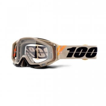 100% Adults Racecraft Goggles - Poliet With Clear Lens
