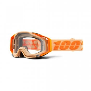 100% Adults Racecraft Goggles - Sahara With Clear Lens