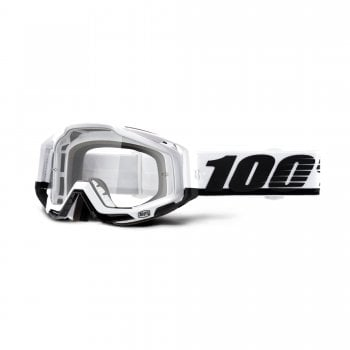 100% Adults Racecraft Goggles - Stuu With Clear Lens
