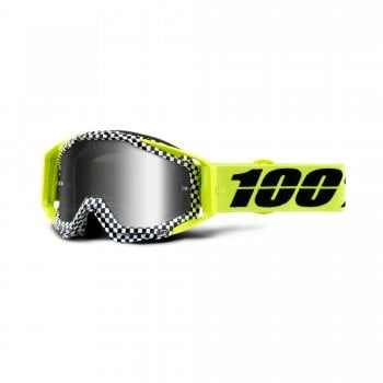 100% Adults Racecraft Goggles - Andre With Silver Mirror Lens
