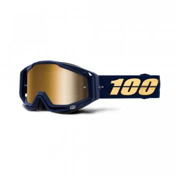100% Adults Racecraft Goggles - Bakken With True Gold Mirror Lens