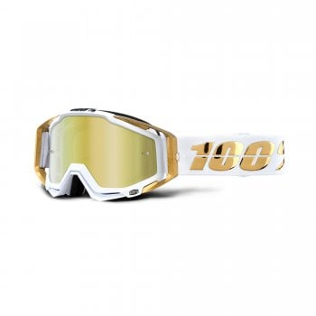 100% Adults Racecraft Goggles - LTD With Gold Mirror Lens