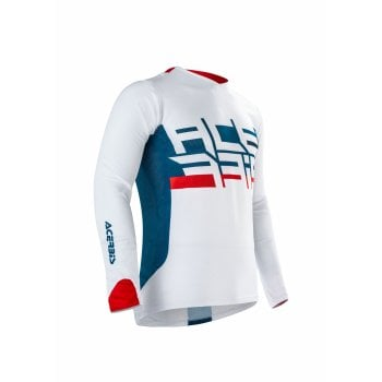 Acerbis Adults Vinyasa MX Vented Jersey - White/ Red