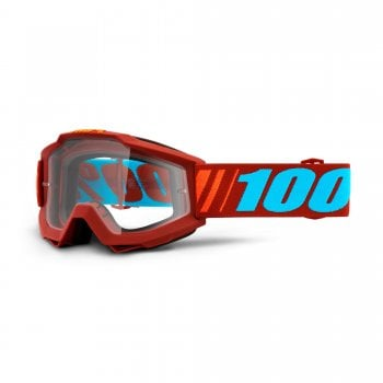 100% Adults Accuri Goggles - Dauphine With Clear Lens