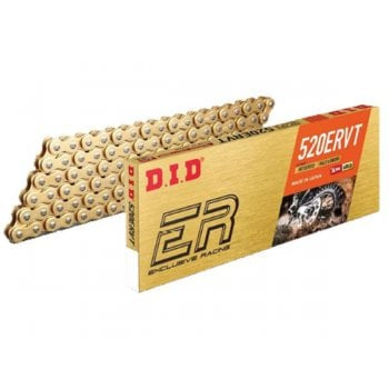 DID ERVT Racing Narrow X-Ring Chain - Gold & Black - 520 x 120L