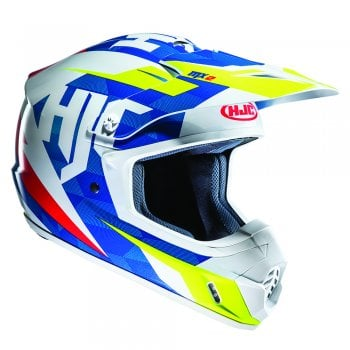 HJC Adults CS-MX II Dakota Helmet - Blue/ White/ Fluo