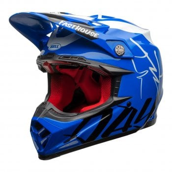 Bell Adults 2020 Moto-9 Flex Helmet - Fasthouse Day In The Dirt (Blue/ White)