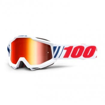 100% Adults Accuri MX Goggles - AF066 with Red Mirror Lens