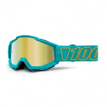 100% Adults Accuri MX Goggles - Galak/ Gold Mirror Lens