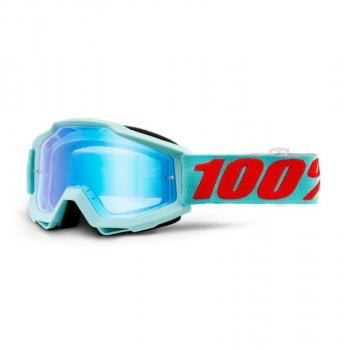 100% Adults Accuri MX Goggles - Maneuver/ Blue Mirror Lens
