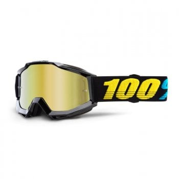 100% Adults Accuri MX Goggles - Virgo/ Gold Mirror Lens