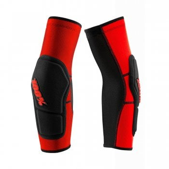 100% Adults Ridecamp Elbow Guards - Red/ Black