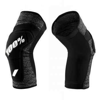 100% Adults Ridecamp Knee Guards - Grey Heather/ Black