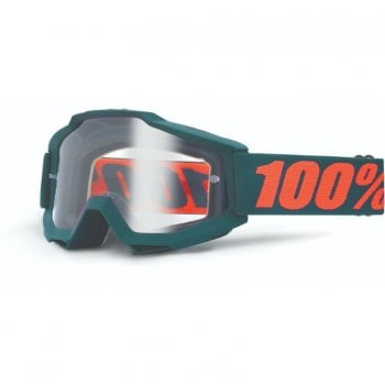 "100% Accuri OTG ""Over The Glasses"" Goggles - Gunmetal With Clear Lens"