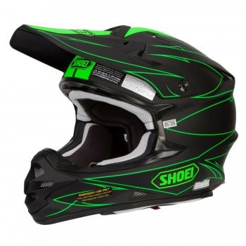 Shoei Adults VFX-W Hectic TC4 Helmet - Green