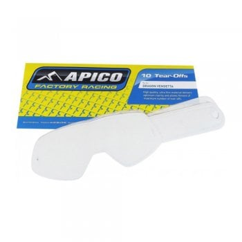 Apico Goggle Tear Offs To Fit 100% 10 PACK