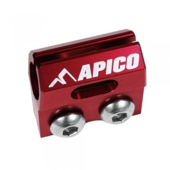 Apico Brake Hose Clamp To Fit Honda CR80/85 96-07, CRF150R 07-17, CR125/250 90-03, CRF450R 02-03 - Red