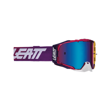 Leatt 2021 Adults Velocity 6.5 Goggles - Iriz United Blue with Blue Lens