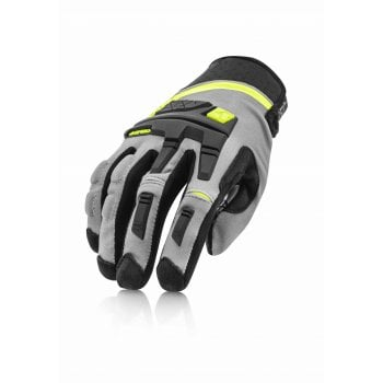 Acerbis Adults X-Enduro CE Gloves - Black/ Fluro Yellow