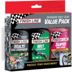 Premium Bike Care Value Pack (4oz Multi/ Wet/ Bike Wash Concentrate)