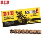 DZ2 Motocross Racing Chain - 520 x 120 Links - Gold & Black