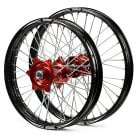 Front  Rear Evo Wheel Set - Honda CRF 250 14-17, CRF 450 13-17 - Red/ Black