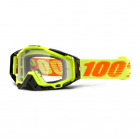 Adults Racecraft Tear Off Goggles - Attack Yellow / Clear Lens