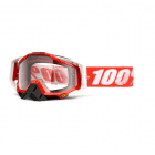 Adults Racecraft Tear Off Goggles - Fire Red / Clear Lens