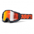 Adults Accuri MX Goggles - Gunmetal/ Red Mirror Lens