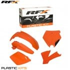 Plastics Kit - KTM SX125/250/400/520/525 2001-02, EXC Models 2003 (5 Pc) - Orange